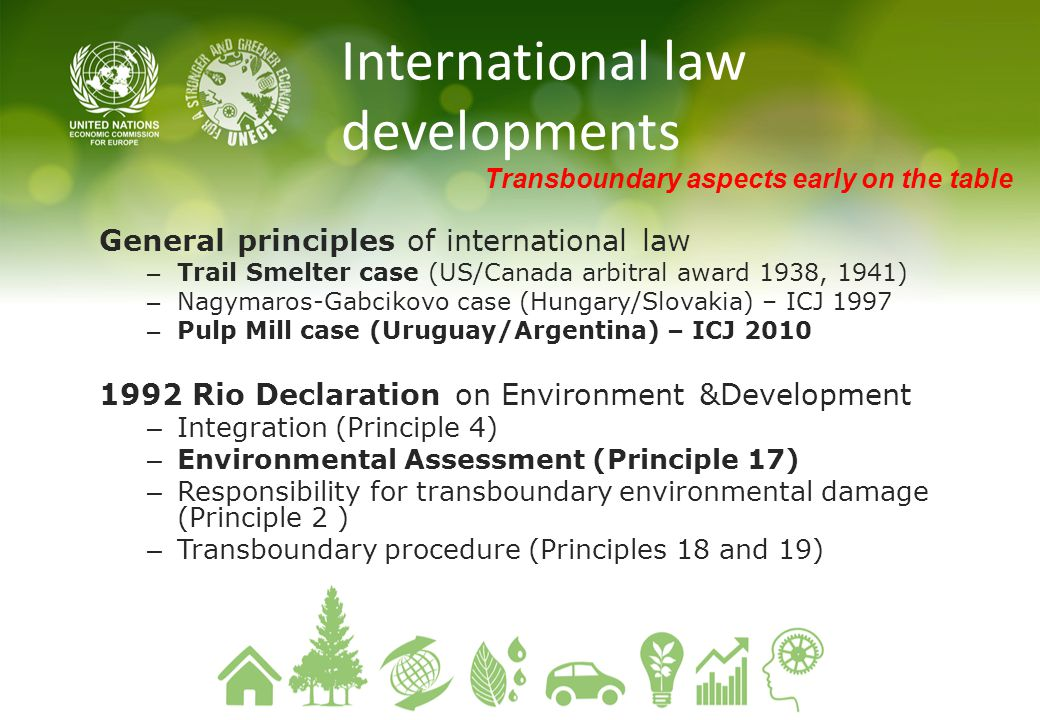 International law developments