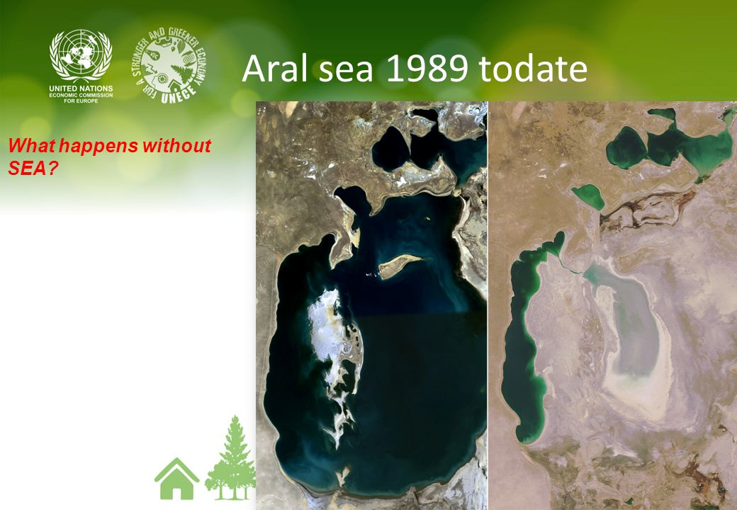 Aral sea 1989 todate What happens without SEA