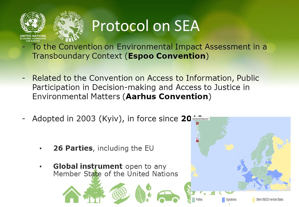 Protocol on SEA To the Convention on Environmental Impact Assessment in a Transboundary Context (Espoo Convention)