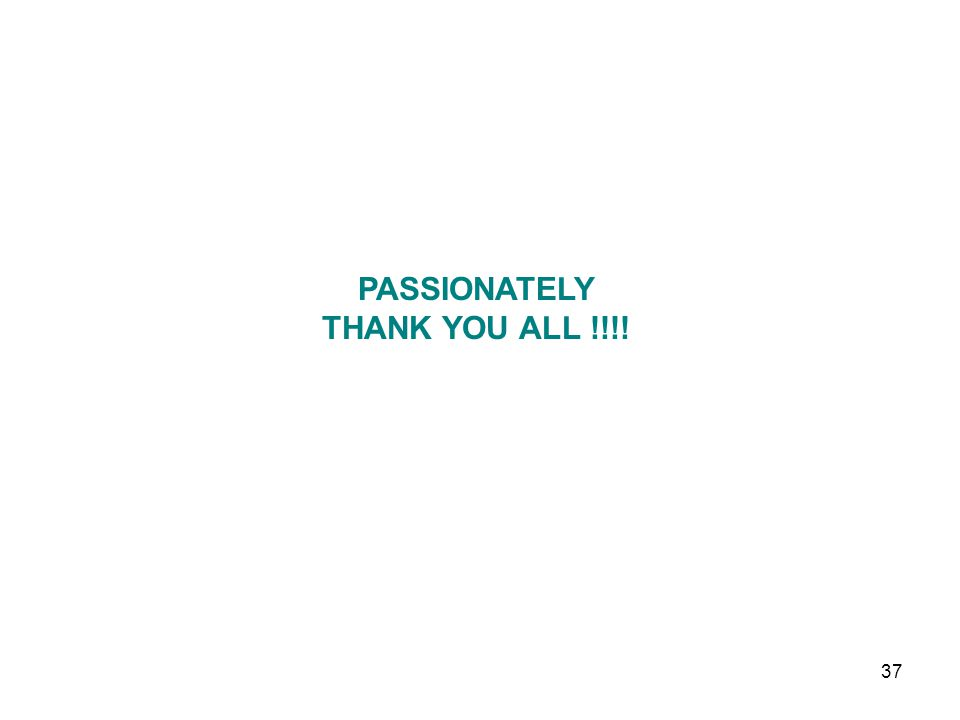 PASSIONATELY THANK YOU ALL !!!!