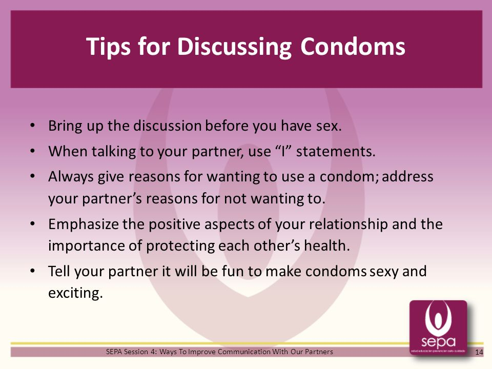Tips for Discussing Condoms