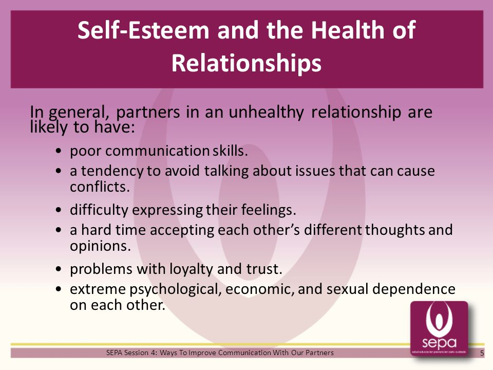 Self-Esteem and the Health of Relationships