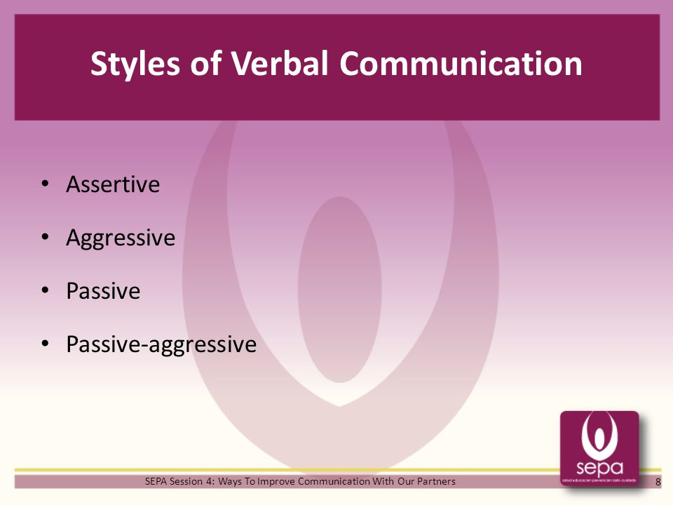 Styles of Verbal Communication