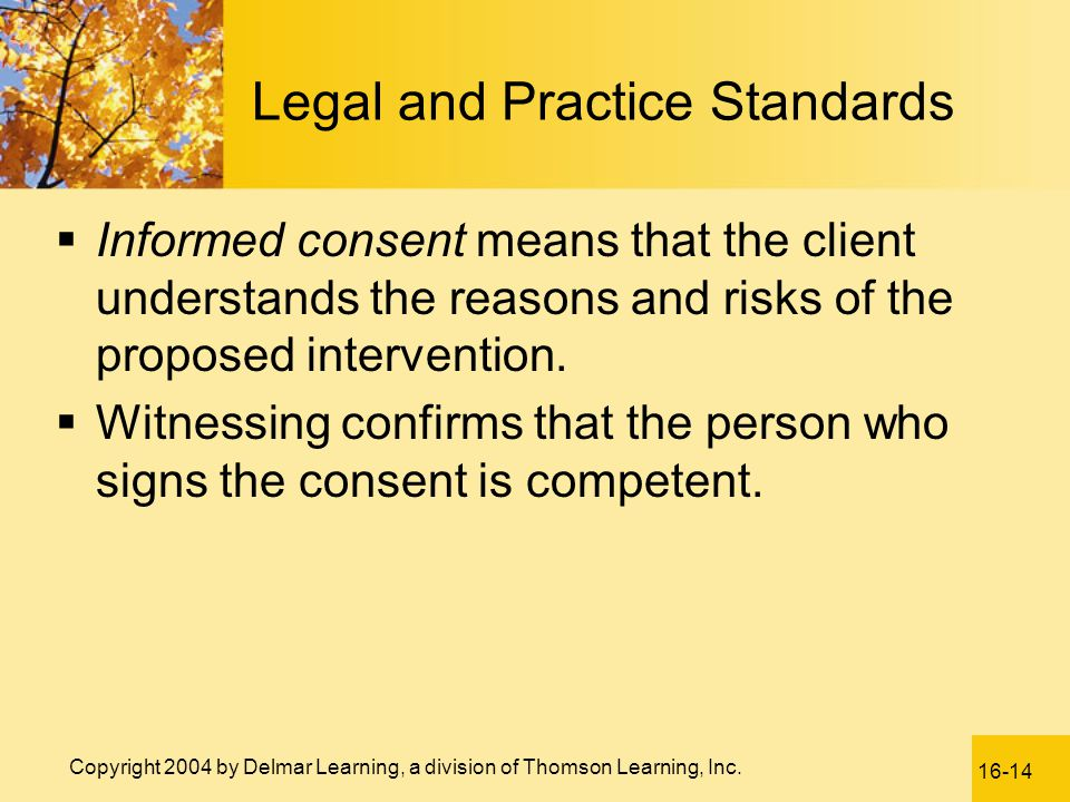Legal and Practice Standards