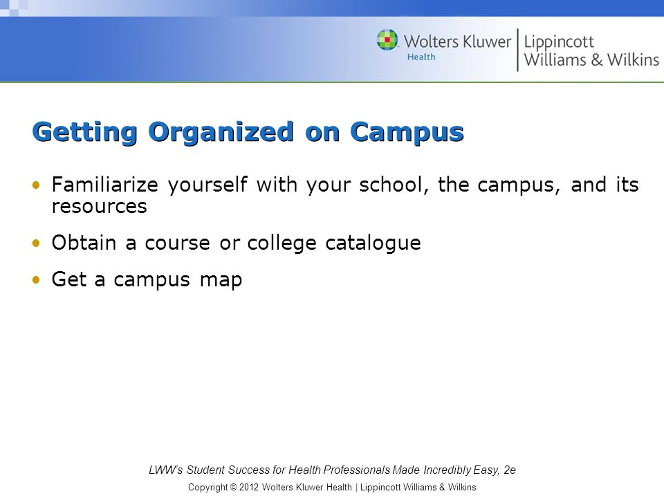 Getting Organized on Campus