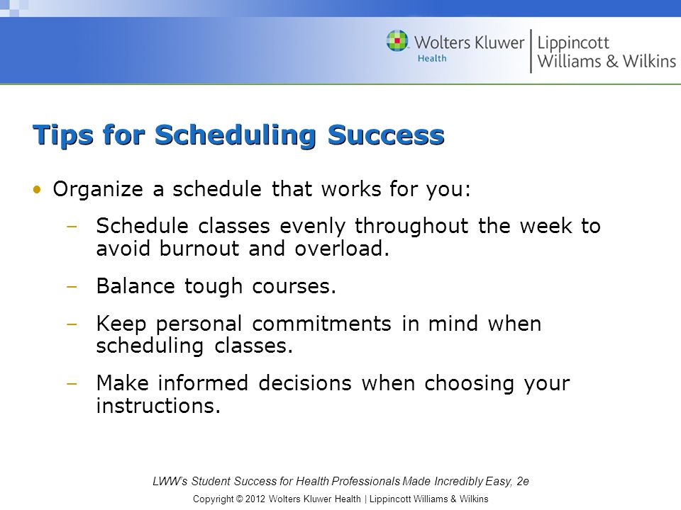 Tips for Scheduling Success