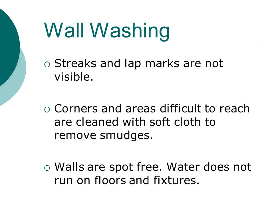 Wall Washing Streaks and lap marks are not visible.