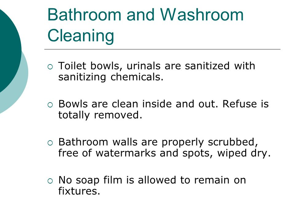 Bathroom and Washroom Cleaning