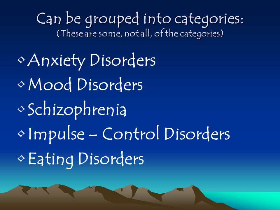 Impulse – Control Disorders Eating Disorders