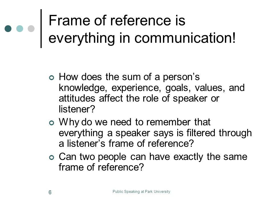 Dorable What Is Frame Of Reference In Communication Vignette ...