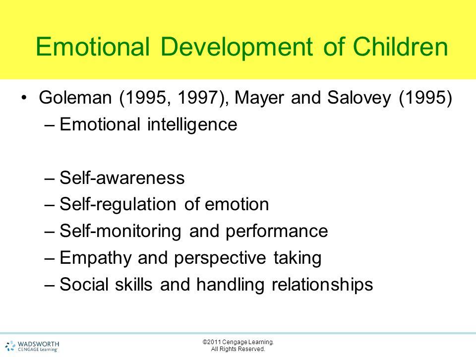 children's development of emotional self regulation Emotional regulation and emotional development authors the development of children's knowledge of self-control strategieschild dev 54: 603–619 google scholar.
