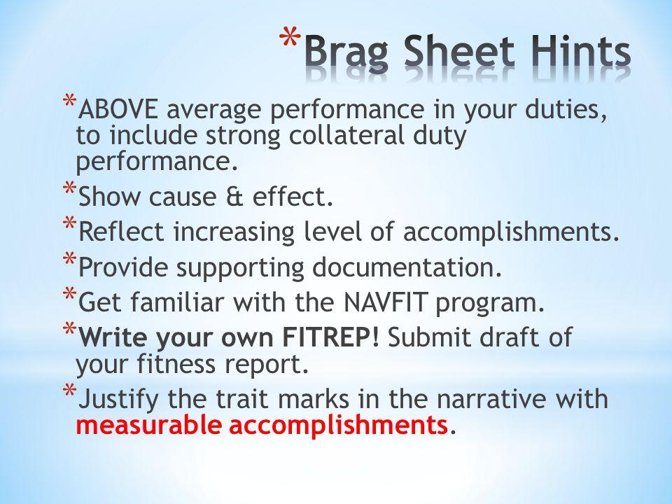 measurable accomplishments