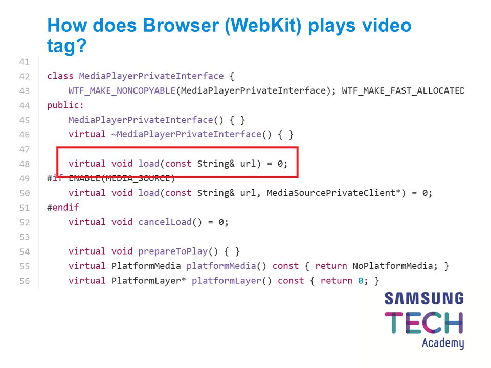 How does Browser (WebKit) plays video tag