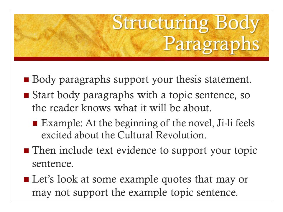 writing the red scarf girl essay ppt video online structuring body paragraphs