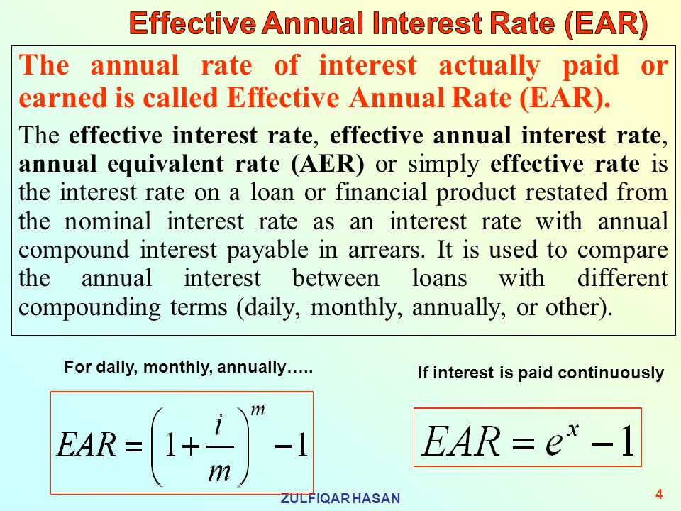 what is effective interest rate pdf