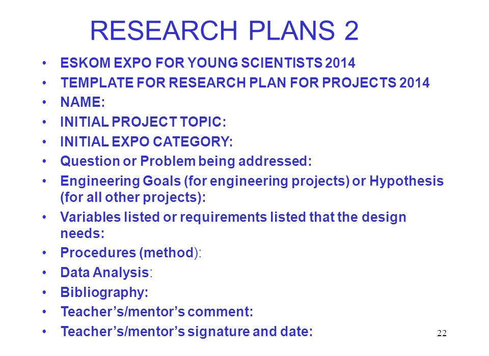 Eskom Expo Research Plan Image Gallery - Hcpr