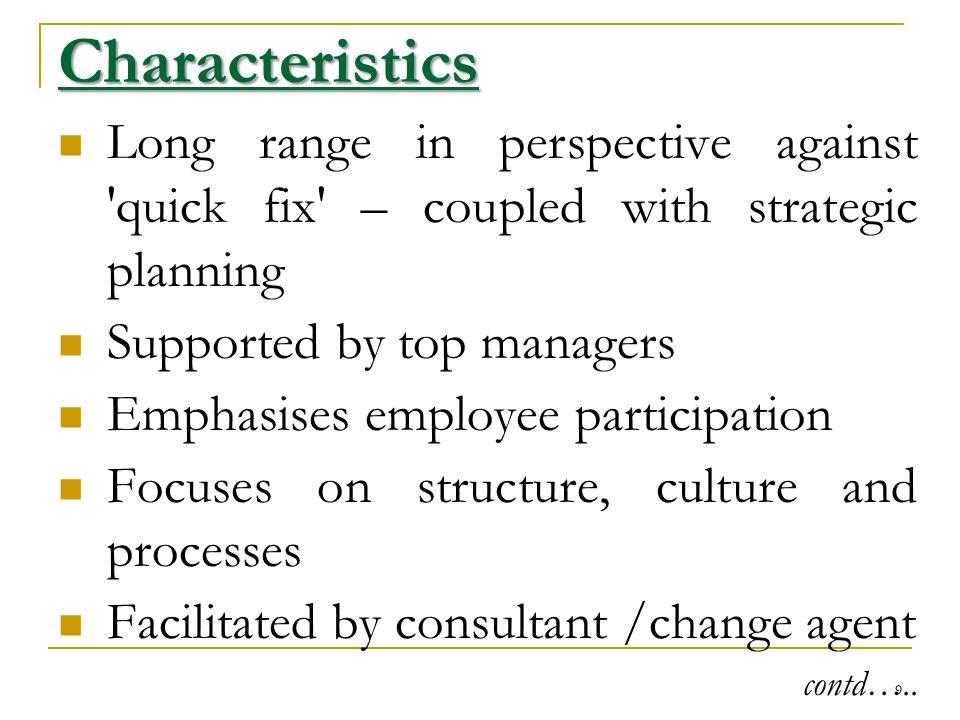 characteristics of strategic planning pdf