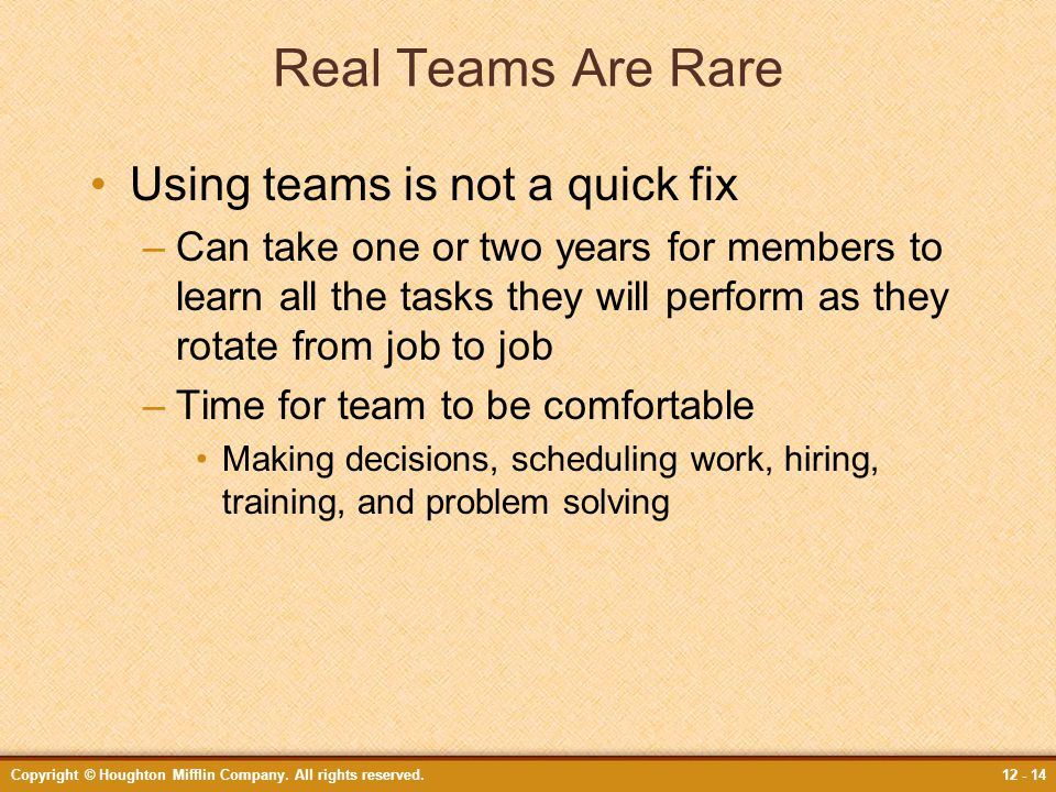 Real Teams Are Rare Using teams is not a quick fix