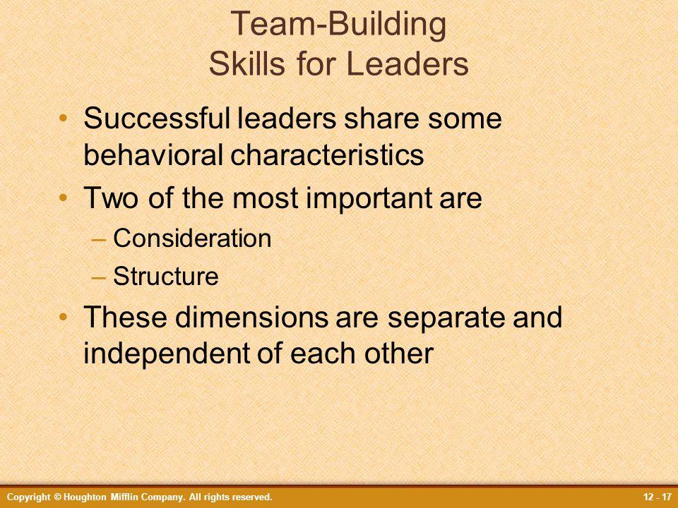 Team-Building Skills for Leaders