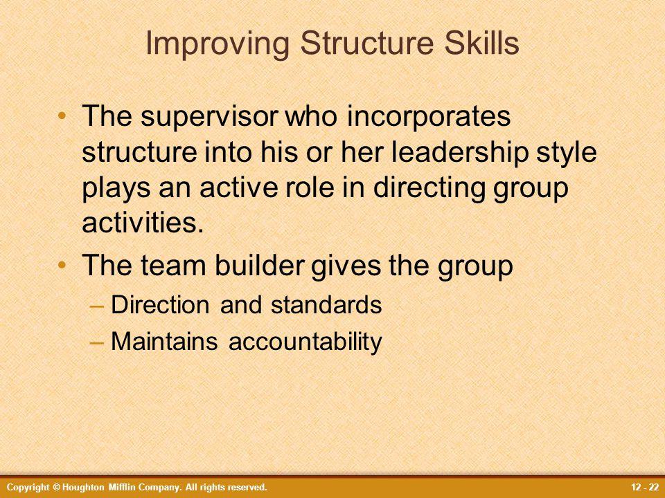 Improving Structure Skills