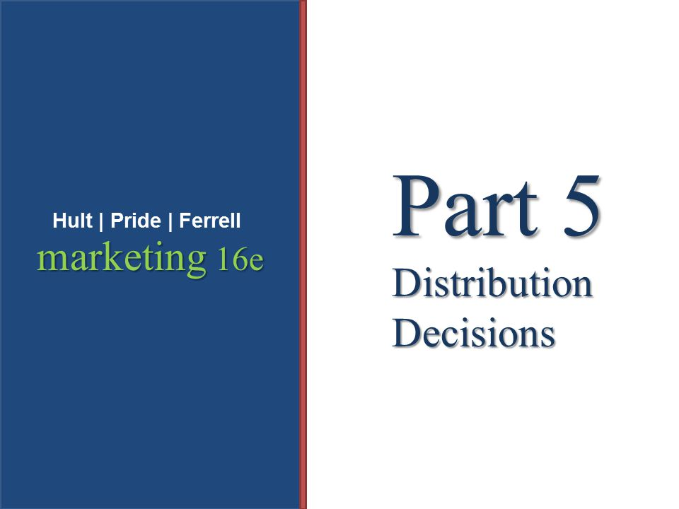 Part 5 Distribution Decisions