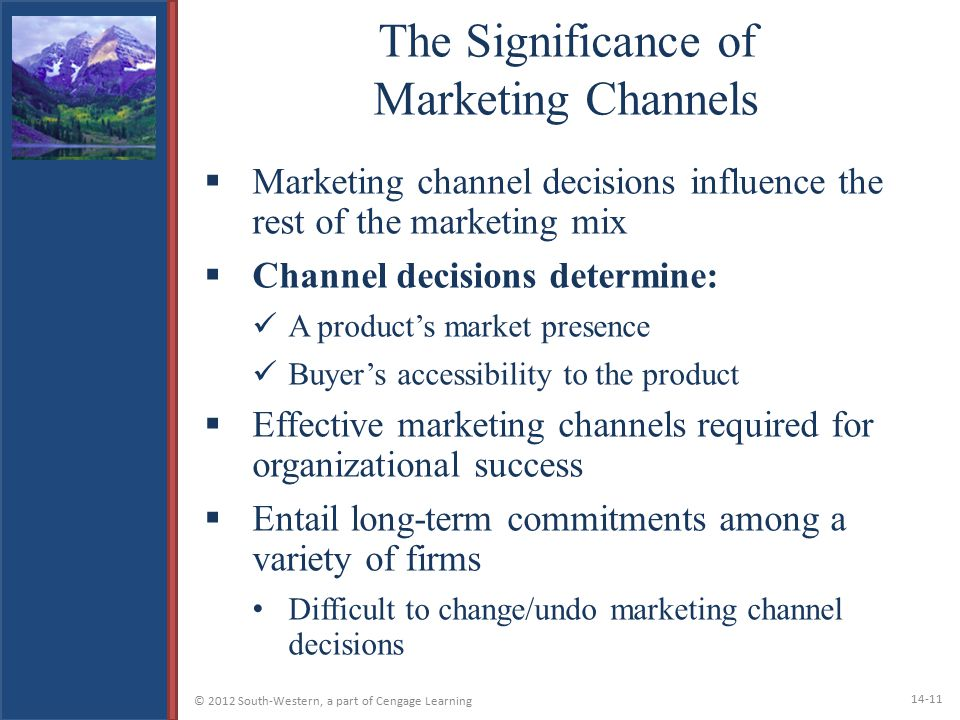 The Significance of Marketing Channels
