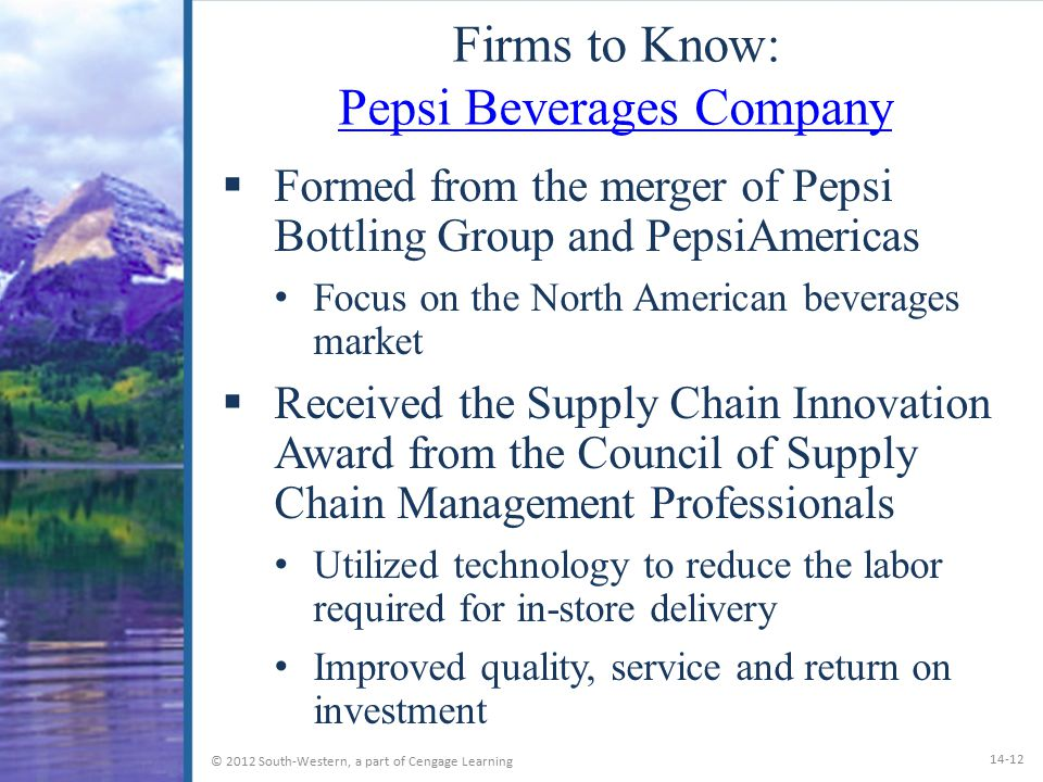 Firms to Know: Pepsi Beverages Company