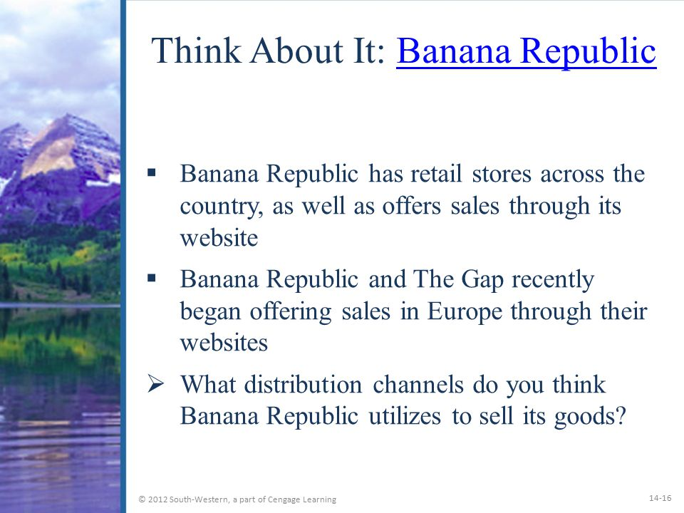 Think About It: Banana Republic