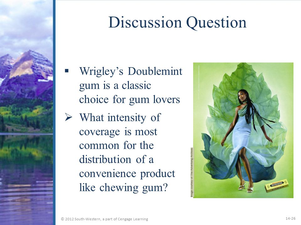 Discussion Question Wrigley's Doublemint gum is a classic choice for gum lovers.