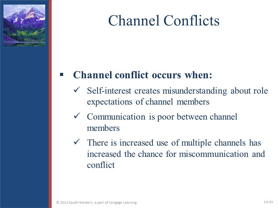 Channel Conflicts Channel conflict occurs when: