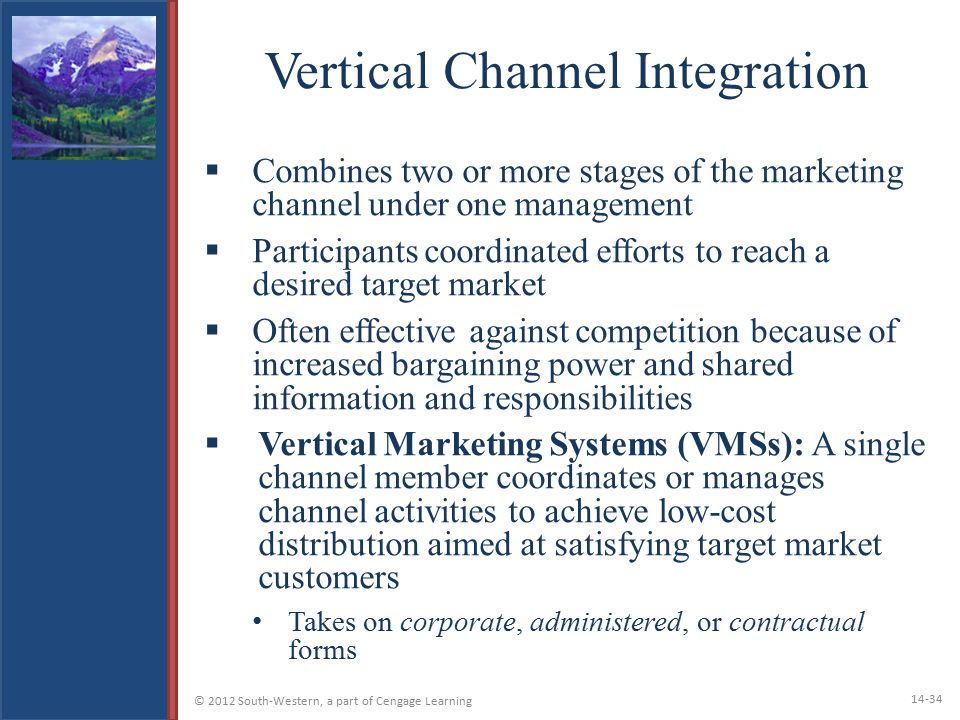 Vertical Channel Integration