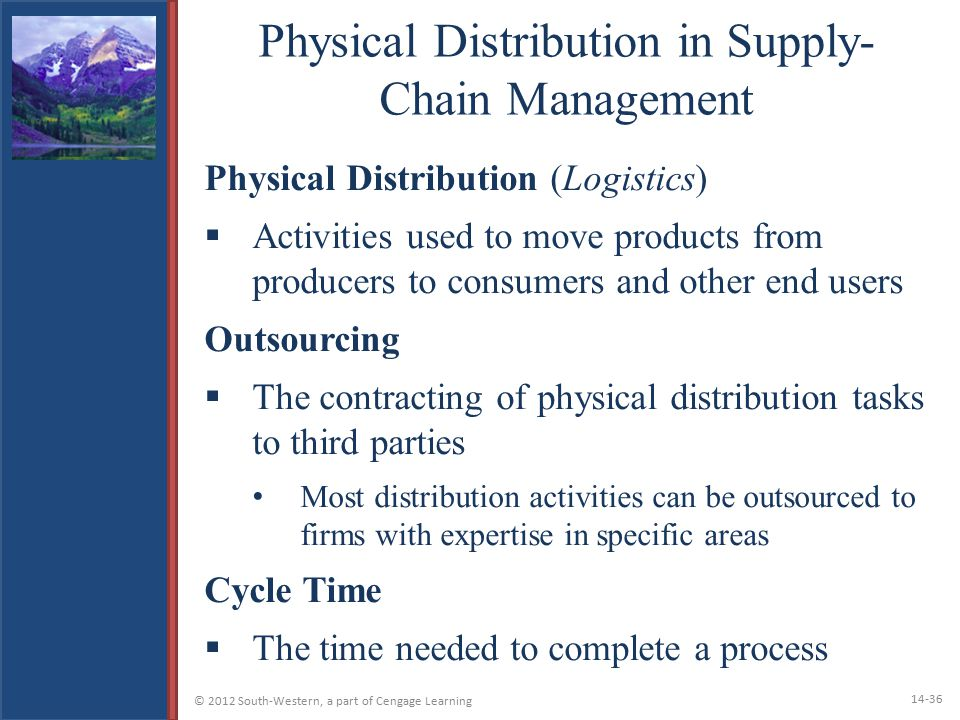 Physical Distribution in Supply-Chain Management