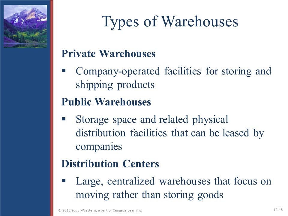 Types of Warehouses Private Warehouses