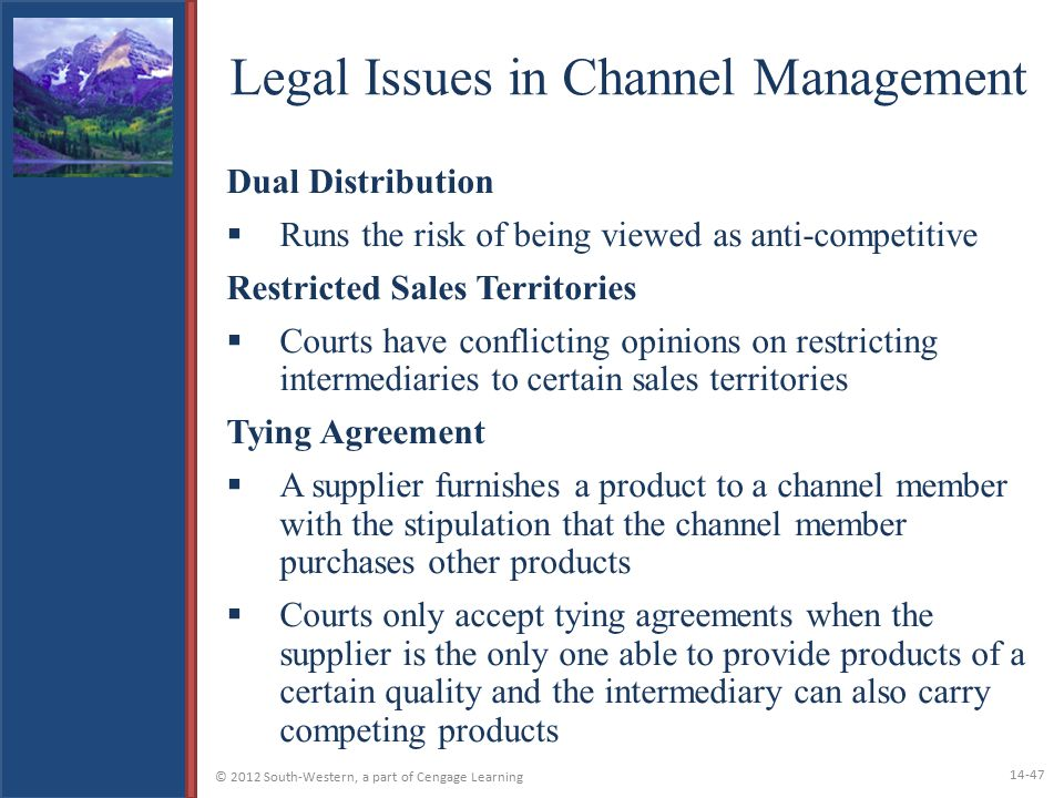 Legal Issues in Channel Management
