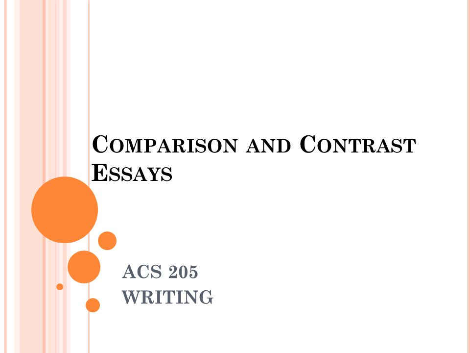 Essay of comparison and contrast