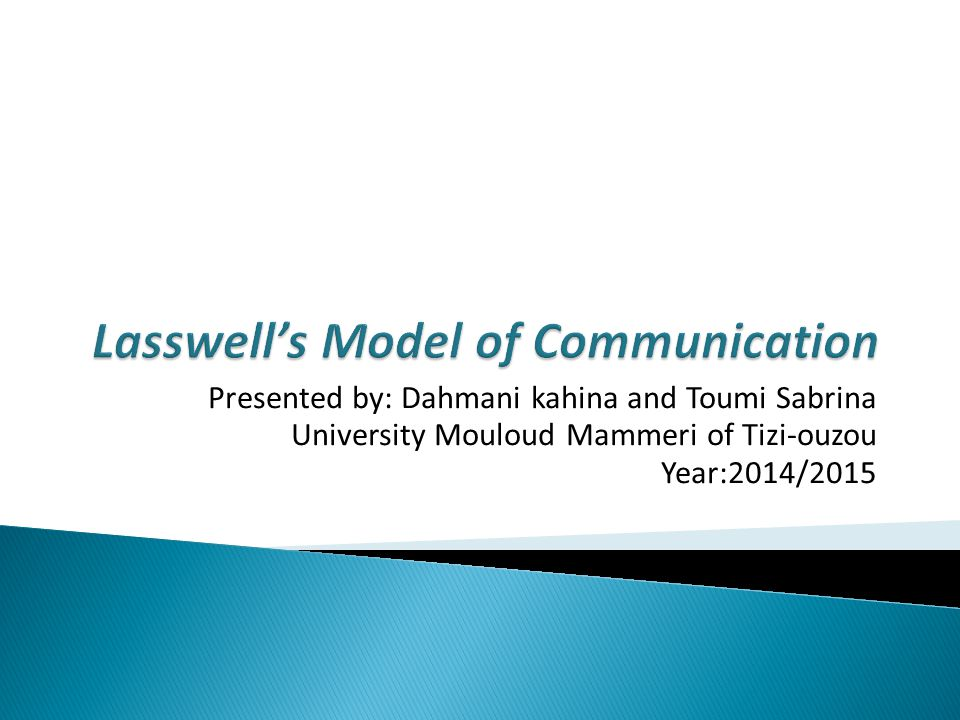Lasswells model of communication ppt video online download lasswells model of communication ccuart Gallery