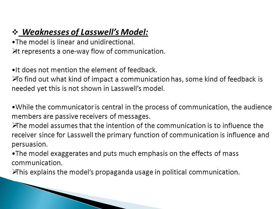 Lasswells model of communication ppt video online download weaknesses of lasswells model ccuart Gallery