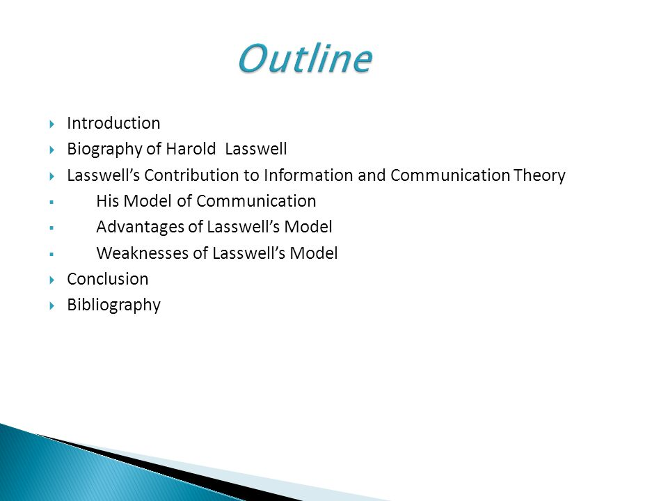 Lasswells model of communication ppt video online download outline introduction biography of harold lasswell ccuart Gallery