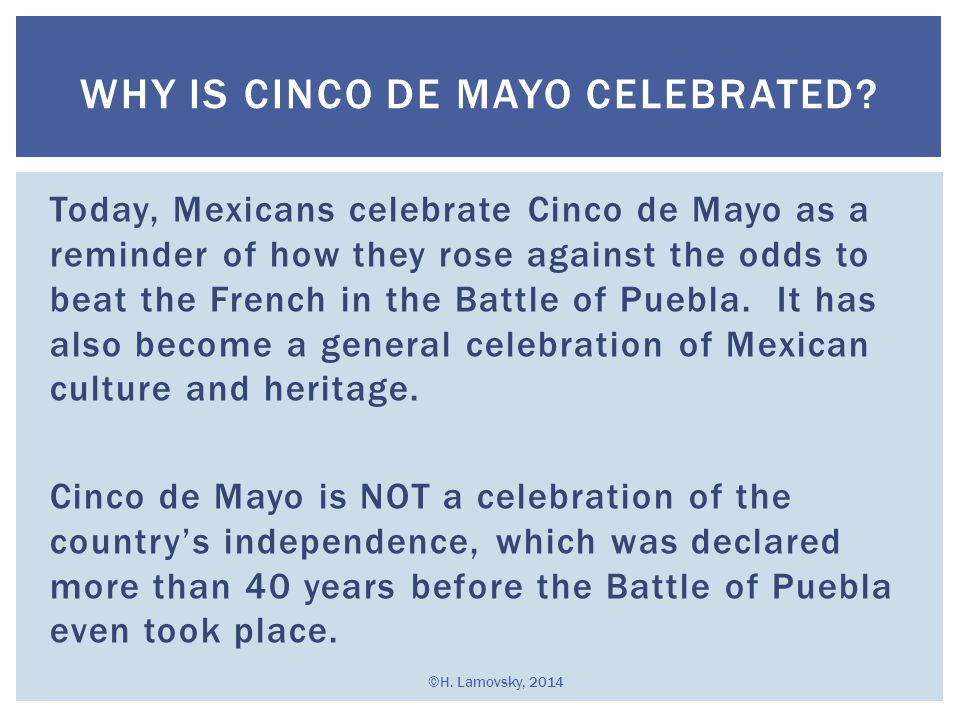 Why is Cinco de Mayo Celebrated