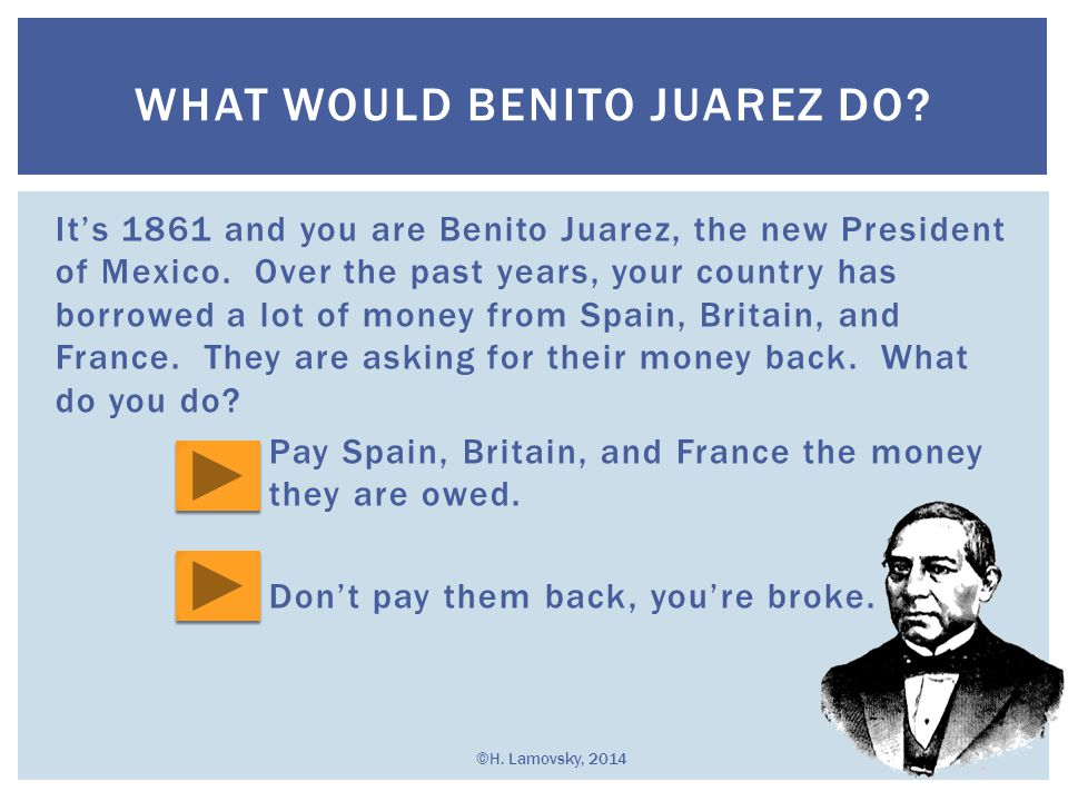 an overview of benito juarez and the war of the reform Why did the reform laws spark a civil war was the implementation of the reform laws in the the caste war miguel lerdo de tejada benito final examination.
