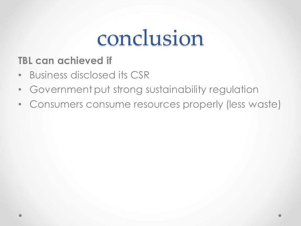 conclusion about csr Coca cola csr 1 csr activities coca cola india ritesh pandey pgdm13b/80 2 what is csrcorporate social responsibility: it is the continuingcommitment by business to behave ethically andcontribute to economic development while improvingthe quality of life of the workforce and their families aswell as of the local community and society at.