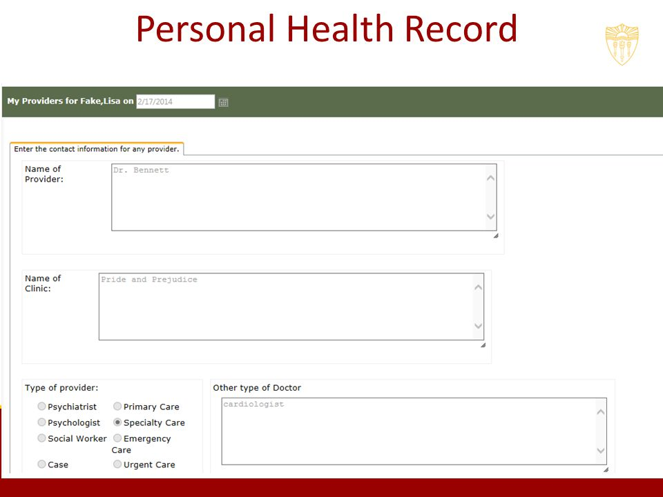 personal health record The personal health record (phr) will play a key role in the move to a safer, more efficient, consumer-driven us healthcare system it will be a valuable asset to individuals and families, enabling them to integrate and manage their healthcare information using secure, standardized tools it is .