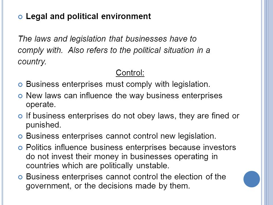 the legal political trade environment The political and legal environment of marketing  forces that affect trade in global markets  how the economic and legal environment affects business related study materials.