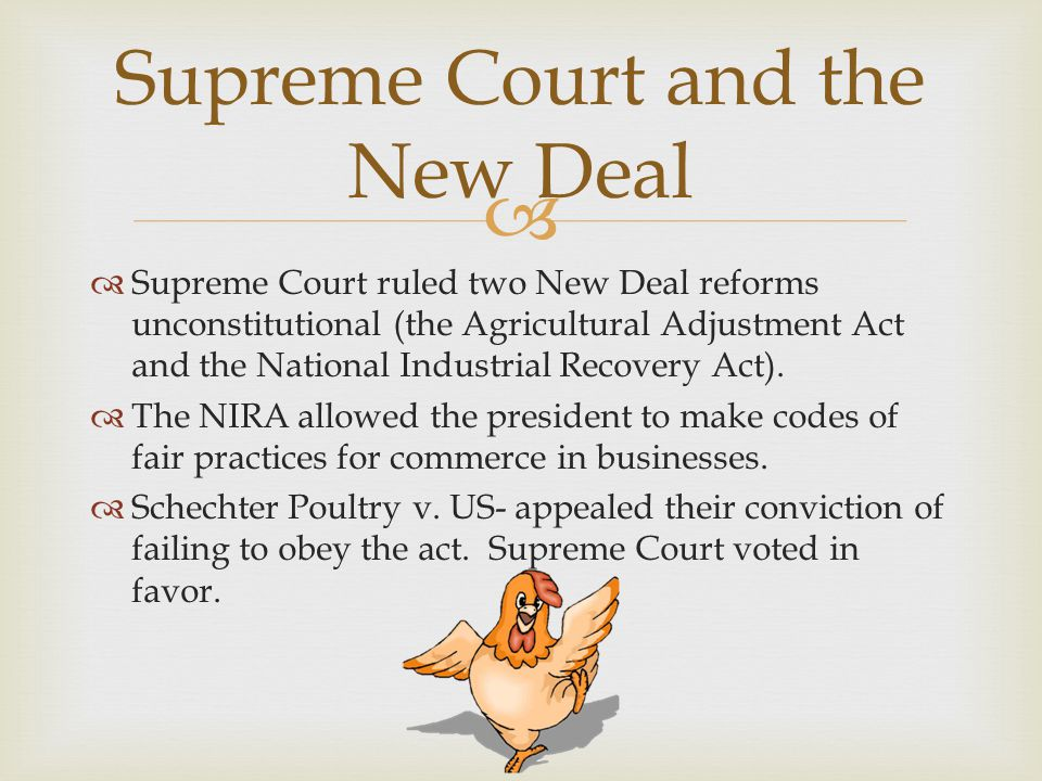 great depression and supreme court case Famous supreme court cases  the case also strengthened the power of the federal government plessy v ferguson  the great depression.