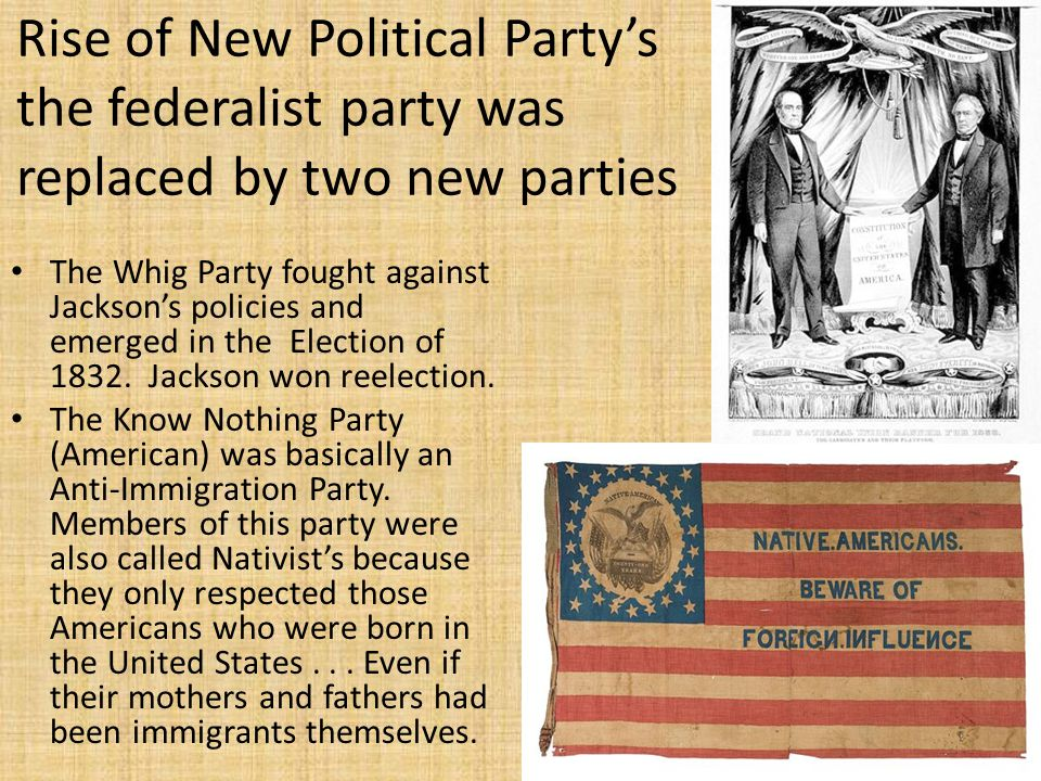 rise of the republican party The failure of efforts by whigs and democrats to find a lasting political compromise on the issue of slavery, the end of the second american party system and the rise of the republican party, the secession of the southern states following the republican party victory in the election of 1860.