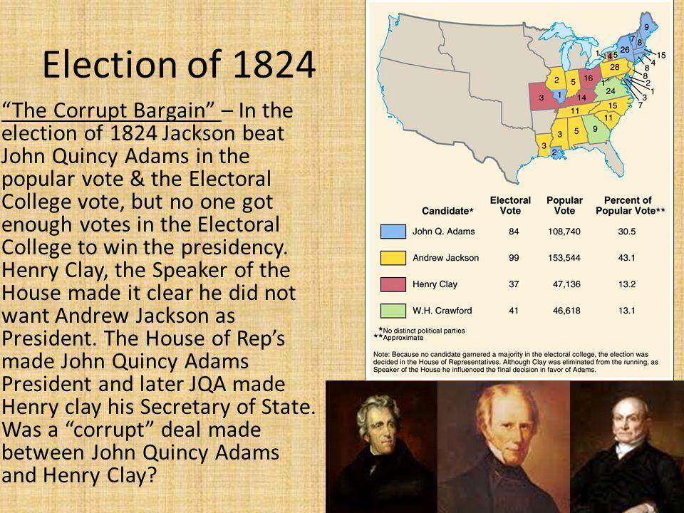 andrew jackson won the election of Adultery' with andrew jackson this allowed andrew and  jackson won the next election in 1828 by a  during the election jackson never.