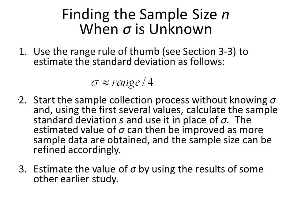 Lecture slides elementary statistics twelfth edition ppt download finding the sample size n when is unknown ccuart Image collections