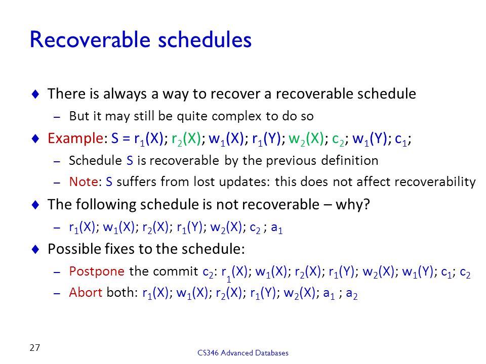 schedule x ppt