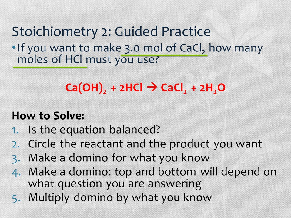 1g cacl2 2h2o x 1 mol cacl2 2h2o First, calculate the molar mass of calcium chloride cacl2 which is 40g for calcium and 2 x 3545g for chloride = 1109g/mol 10g x mol/1109g = 009 mol of cacl2.