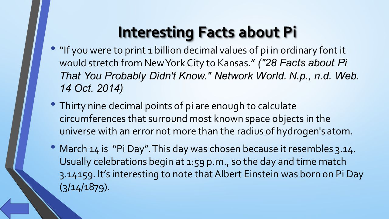 Interesting Facts About Pi
